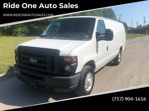 2014 Ford E-Series Cargo for sale at Ride One Auto Sales in Norfolk VA