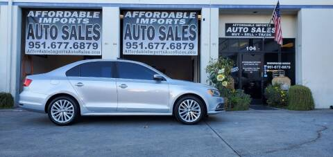 2015 Volkswagen Jetta for sale at Affordable Imports Auto Sales in Murrieta CA