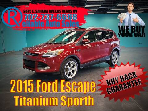2015 Ford Escape for sale at Reliable Auto Sales in Las Vegas NV
