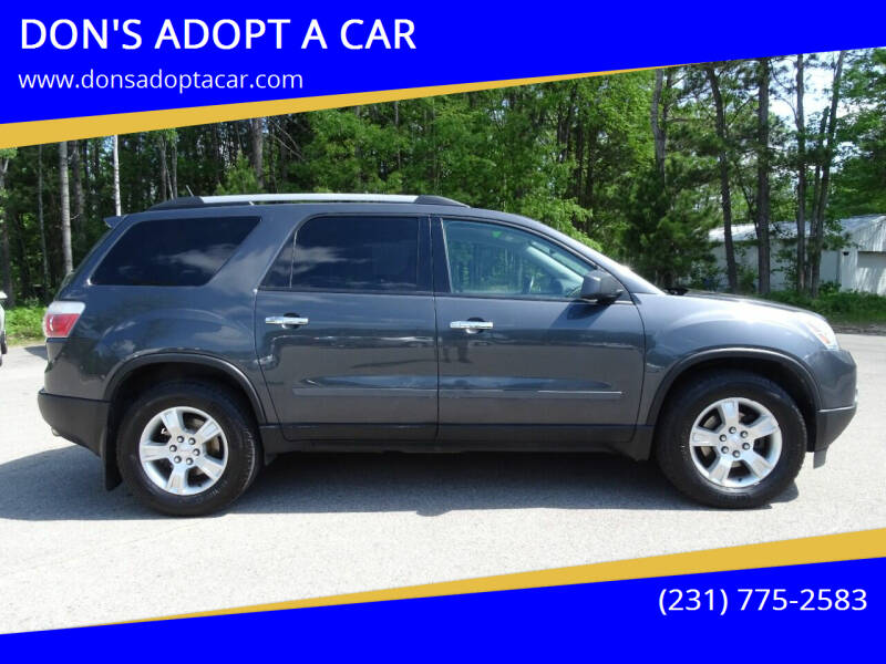 2012 GMC Acadia for sale at DON'S ADOPT A CAR in Cadillac MI