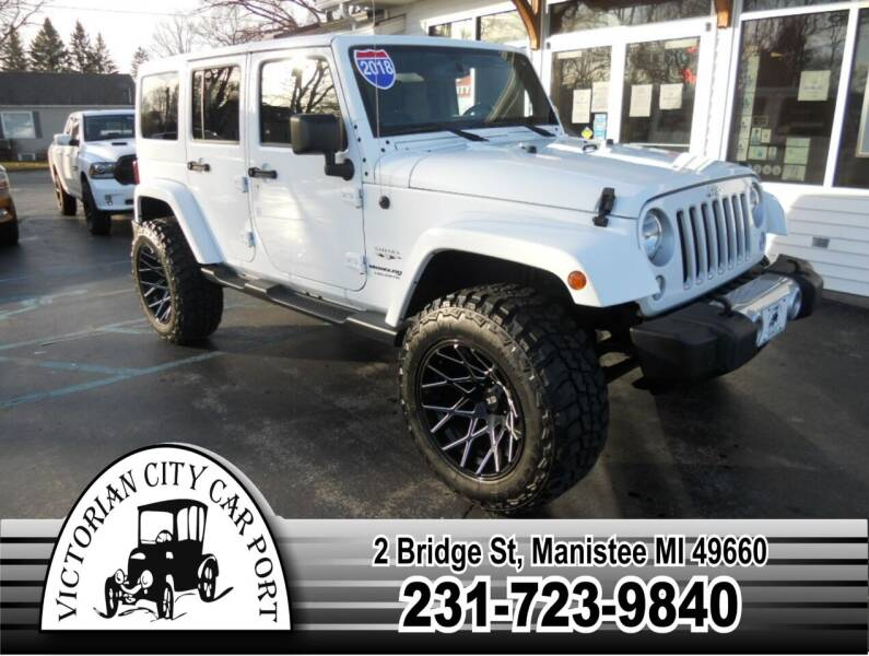 2018 Jeep Wrangler JK Unlimited for sale at Victorian City Car Port INC in Manistee MI