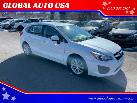 2014 Subaru Impreza for sale at GLOBAL AUTO USA in Saint Paul MN