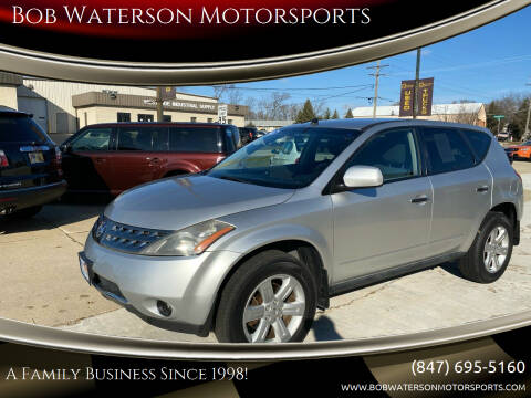 2006 Nissan Murano for sale at Bob Waterson Motorsports in South Elgin IL