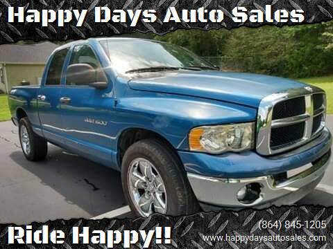 2004 Dodge Ram Pickup 1500 for sale at Happy Days Auto Sales in Piedmont SC