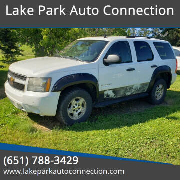 2007 Chevrolet Tahoe for sale at Lake Park Auto Connection in Lake Park MN