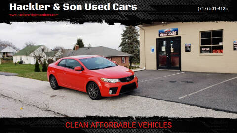 2011 Kia Forte Koup for sale at Hackler & Son Used Cars in Red Lion PA
