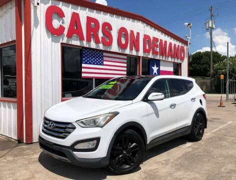 2013 Hyundai Santa Fe Sport for sale at Cars On Demand 2 in Pasadena TX