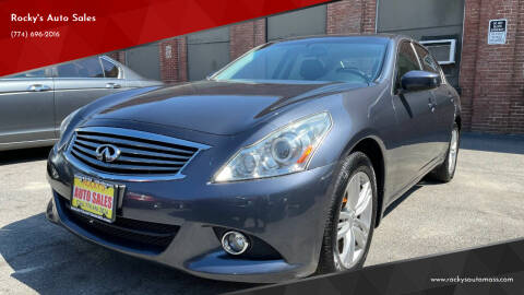 2012 Infiniti G25 Sedan for sale at Rocky's Auto Sales in Worcester MA