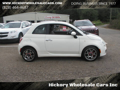 2012 FIAT 500 for sale at Hickory Wholesale Cars Inc in Newton NC