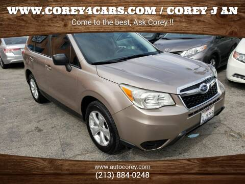 2015 Subaru Forester for sale at WWW.COREY4CARS.COM / COREY J AN in Los Angeles CA