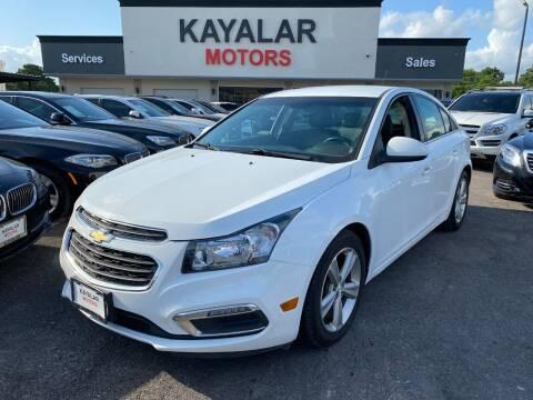 2015 Chevrolet Cruze for sale at KAYALAR MOTORS in Houston TX