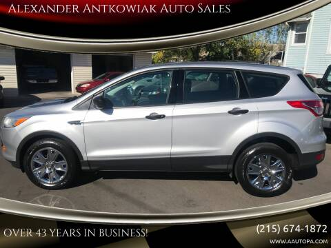 2013 Ford Escape for sale at Alexander Antkowiak Auto Sales in Hatboro PA