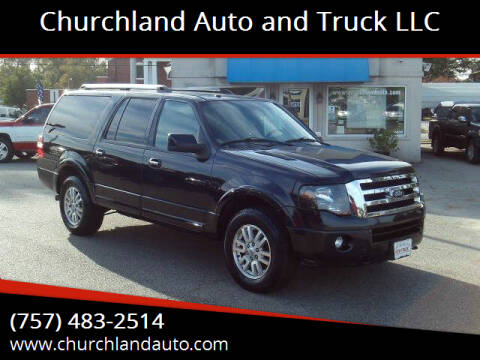 2012 Ford Expedition EL for sale at Churchland Auto and Truck LLC in Portsmouth VA