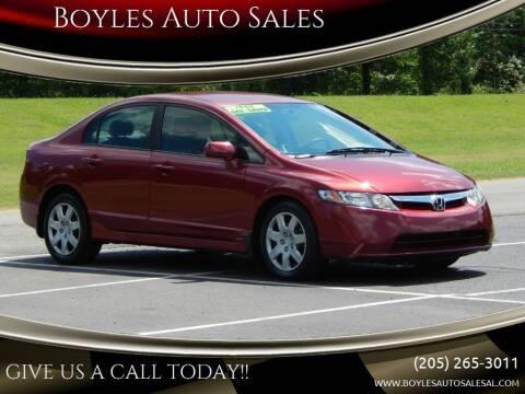 2008 Honda Civic for sale at Boyles Auto Sales in Jasper AL