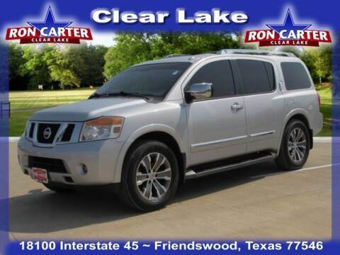 2015 Nissan Armada for sale at Ron Carter  Clear Lake Used Cars in Houston TX