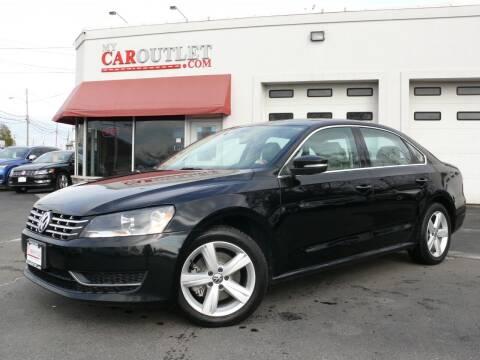 2013 Volkswagen Passat for sale at MY CAR OUTLET in Mount Crawford VA