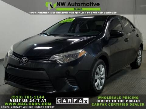 2015 Toyota Corolla for sale at NW Automotive Group in Cincinnati OH