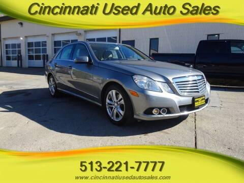 2011 Mercedes-Benz E-Class for sale at Cincinnati Used Auto Sales in Cincinnati OH
