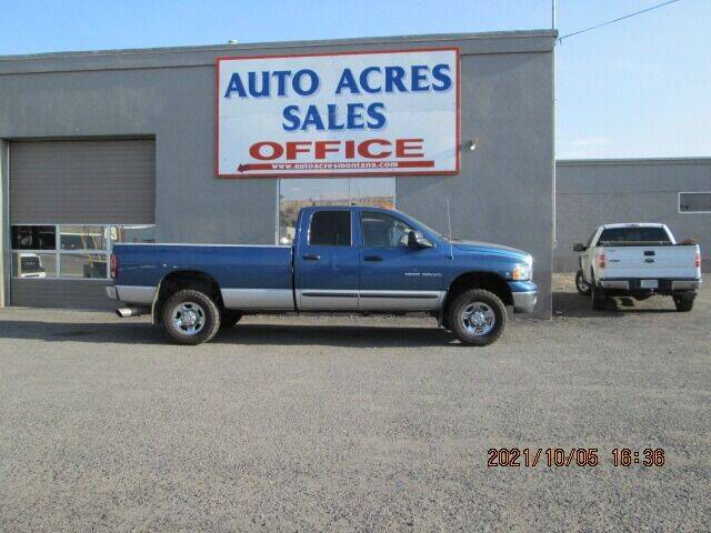 2004 Dodge Ram Pickup 3500 for sale at Auto Acres in Billings MT