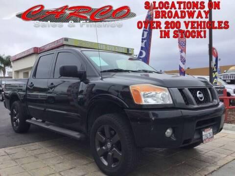 2012 Nissan Titan for sale at CARCO SALES & FINANCE #3 in Chula Vista CA