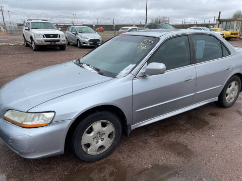 2002 Honda Accord for sale at PYRAMID MOTORS - Fountain Lot in Fountain CO