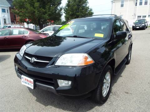2003 Acura MDX for sale at FRIAS AUTO SALES LLC in Lawrence MA