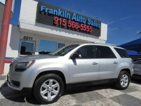 2013 GMC Acadia for sale at Franklin Auto Sales in El Paso TX