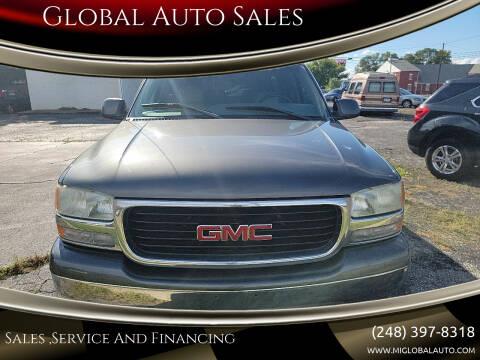 2001 GMC Yukon XL for sale at Global Auto Sales in Hazel Park MI