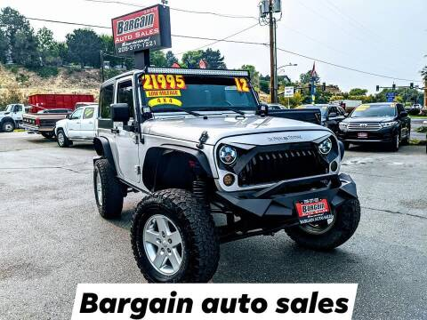 2012 Jeep Wrangler for sale at Bargain Auto Sales LLC in Garden City ID