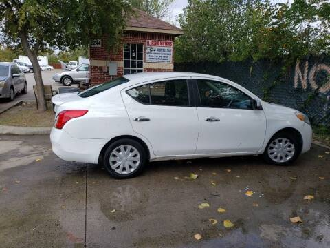 2012 Nissan Versa for sale at El Jasho Motors in Grand Prairie TX