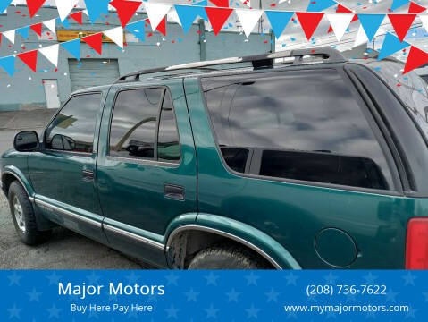 1997 Chevrolet Blazer for sale at Major Motors in Twin Falls ID