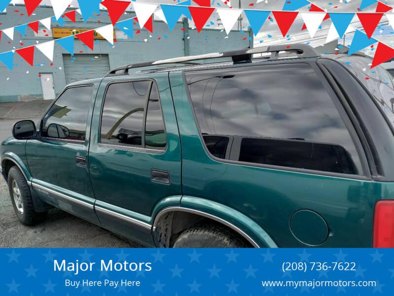 1997 Chevrolet Blazer for sale at Major Motors in Twin Falls ID