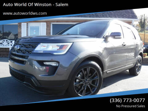 2018 Ford Explorer for sale at Auto World Of Winston - Salem in Winston Salem NC