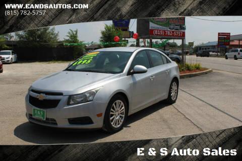 2013 Chevrolet Cruze for sale at E & S Auto Sales in Crest Hill IL