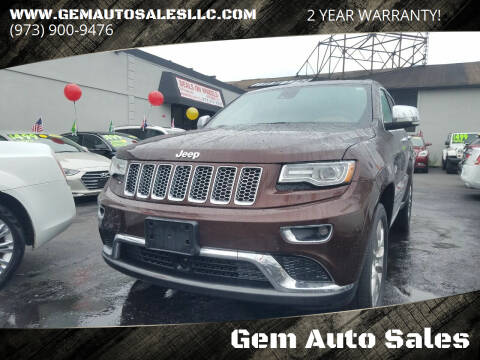 2015 Jeep Grand Cherokee for sale at Gem Auto Sales in Irvington NJ