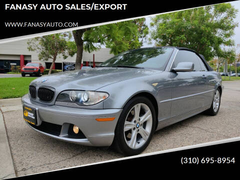 2005 BMW 3 Series for sale at FANASY AUTO SALES/EXPORT in Yorba Linda CA