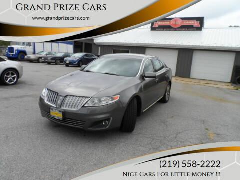 2011 Lincoln MKS for sale at Grand Prize Cars in Cedar Lake IN