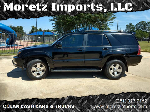 2005 Toyota 4Runner for sale at Moretz Imports, LLC in Spring TX
