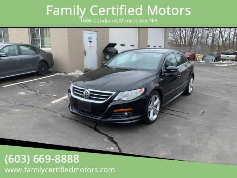 2012 Volkswagen CC for sale at Family Certified Motors in Manchester NH
