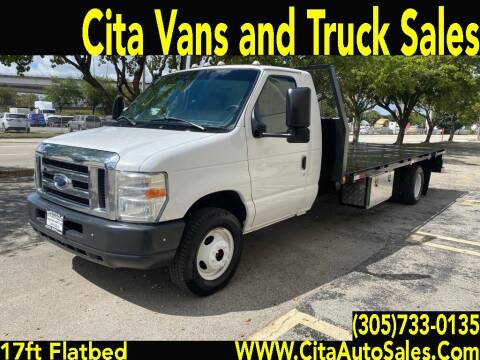 2011 Ford ECONOLINE E450 17 FT FLATBED for sale at Cita Auto Sales in Medley FL
