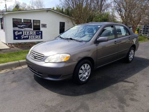 2004 Toyota Corolla for sale at TR MOTORS in Gastonia NC