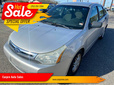 2010 Ford Focus for sale at Carpro Auto Sales in Chesapeake VA