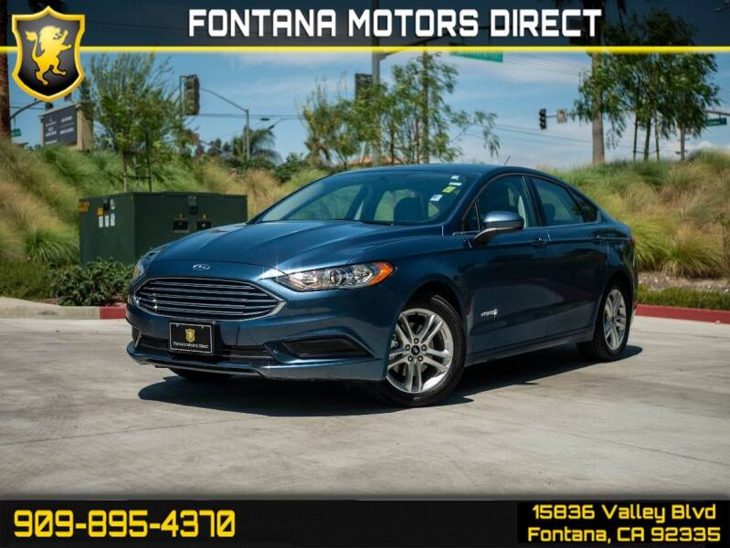 2018 Ford Fusion Hybrid for sale in Fontana, CA