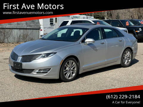2016 Lincoln MKZ for sale at First Ave Motors in Shakopee MN