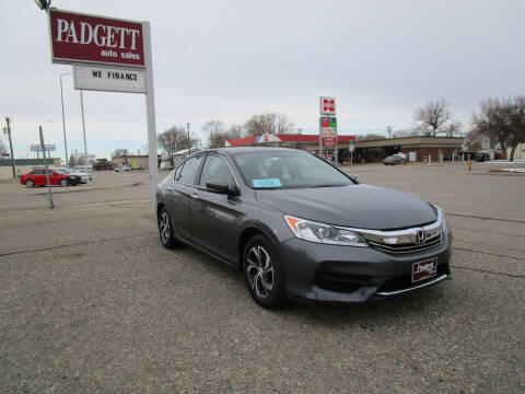 2017 Honda Accord for sale at Padgett Auto Sales in Aberdeen SD