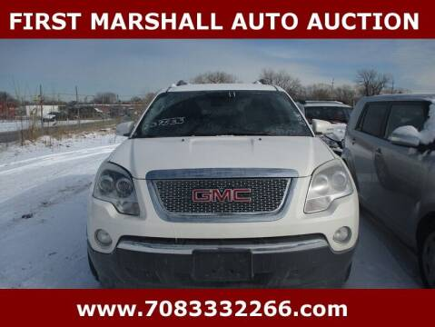 2011 GMC Acadia for sale at First Marshall Auto Auction in Harvey IL