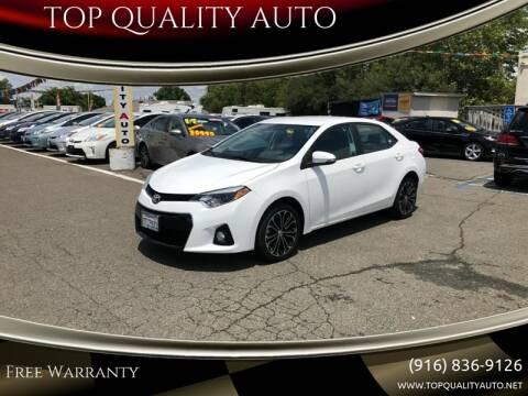 2016 Toyota Corolla for sale at TOP QUALITY AUTO in Rancho Cordova CA