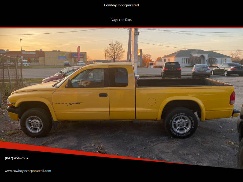 2000 Dodge Dakota for sale at Cowboy Incorporated in Waukegan IL