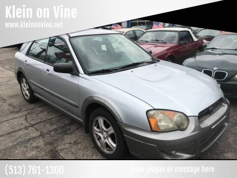 2004 Subaru Impreza for sale at Klein on Vine in Cincinnati OH