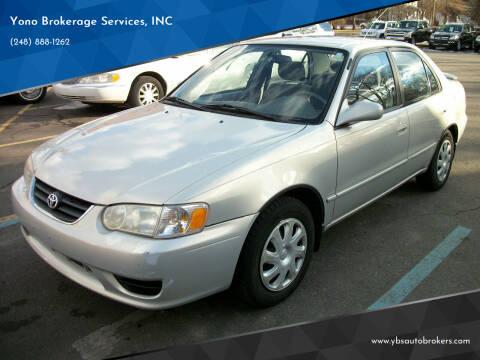 2001 Toyota Corolla for sale at Yono Brokerage Services, INC in Farmington MI
